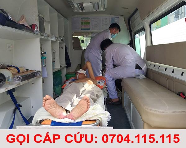 gọi xe cứu thương bệnh viện thái nguyên 2